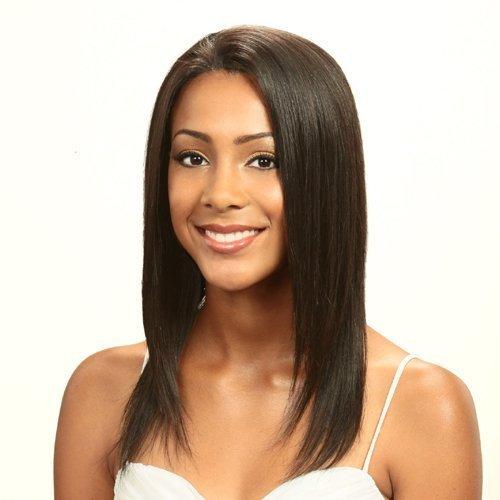 BOBBI BOSS Premium Remi Hair Lace Front Wig - Diamond Rain S (1B Off Black)