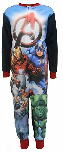Marvel Avengers A Boys Fleece One Piece Sleepsuit 4-5 años