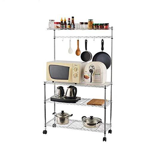 aasdf Microwave Cart Stand Kitchen Utility Storage 3-Tier+4-Tier for Baker's Rack & Spice Rack Organizer Workstation Shelf, Upgraded