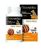 Néovéto Peau Poils comprimés naturels pour Chien à Base d'Actifs agréés par Les Services vétérinaires français, fabriqué en France,Hair Beauty, Dog Coat