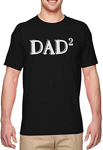 BLINGG Dad Squared Times Two Second Child Men's T-Shirt,Black,Large