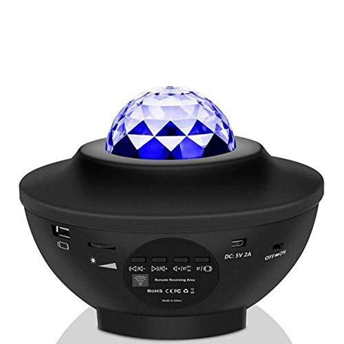 CHSYWH Proyector de luz Nocturna con Estrella, Control USB Bluetooth, luz Nocturna del Reproductor de música, luz Nocturna del proyector, luz Nocturna LED