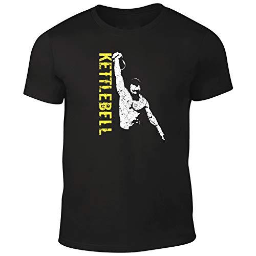 DesignDivil qualità da Uomo PRO, Progettato per 'Kettlebell Sollevatore Maglietta. Black Large