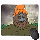 Big LEZ Show - Trippy Sassy Sasquatch Non-Slop Rubber Mousepad Gaming Mouse Pad with Stitched Edge 11.8