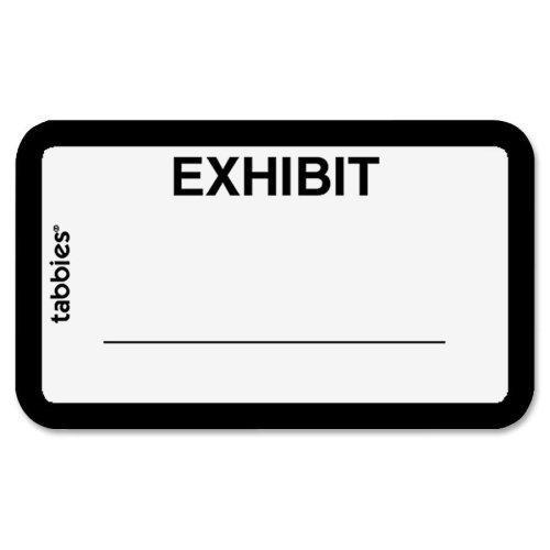 Tabbies 58092 Legal Exhibit Labels,