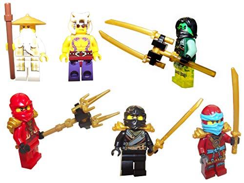LEGO Juego de figuras Ninjago con armas originales.