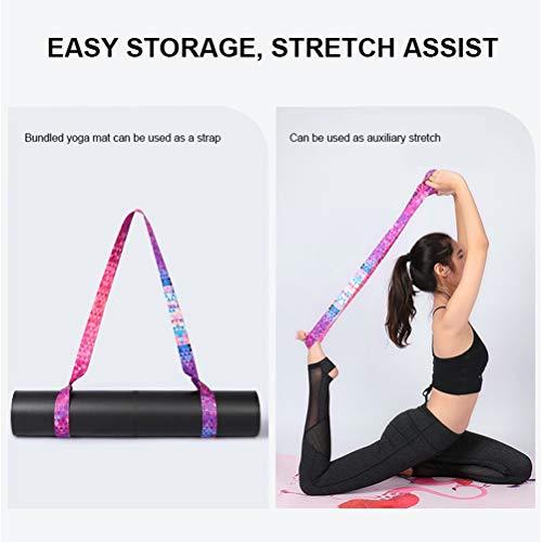 Yoga-Mattengurt, Yoga-Tragegurt Mehrzweck-Mattengurt mit verstellbaren Schlaufen Perfekte verstellbare Schlaufen für alle Mattengrößen (Matte nicht im Lieferumfang enthalten)