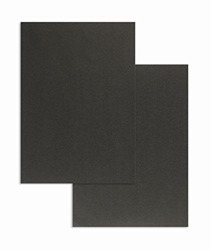 100 Farbiges Briefpapier, Schwarz, DIN A4, 80 g/m², 210 x 297 mm, Blanke Briefhüllen, Colorista