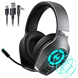 Edifier GX Gaming Headset Hi-Res decoding for PC PS4 Xbox One Switch Smartphones Laptops Gaming Headphones with Microphone ENC Dual-mic USB Type-C 3.5mm Interface Headsets RGB LED Lights 50mm Driver