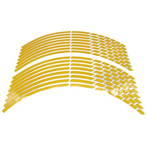 17'18' 19'16' Pegatinas de neumáticos de Rueda de automóviles de Motorcycle Motorcycle Motorbike Auto Calcomanía para Y-A-M-A-H-A S-U-Z-U - K-I H-O-N-D-A A K-A-W-A-S - A-K-I (Color : Yellow)