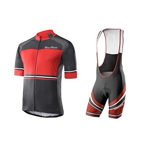 Uglyfrog Magliette Jersey +Salopette Body Tuta Ciclismo Completo Bici Uomo Estivo con Maglia e Pantaloncini Corti Imbottiti HIZD14