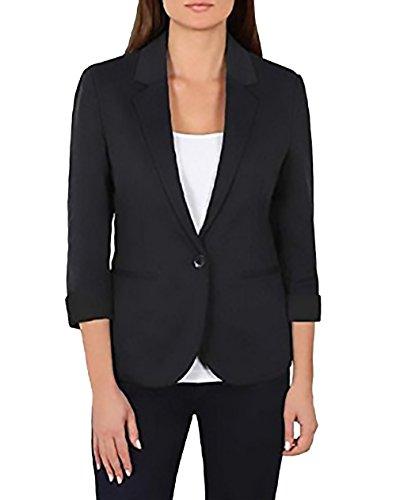 Nicole Miller Ladies Knit Blazer (Medium, Black)