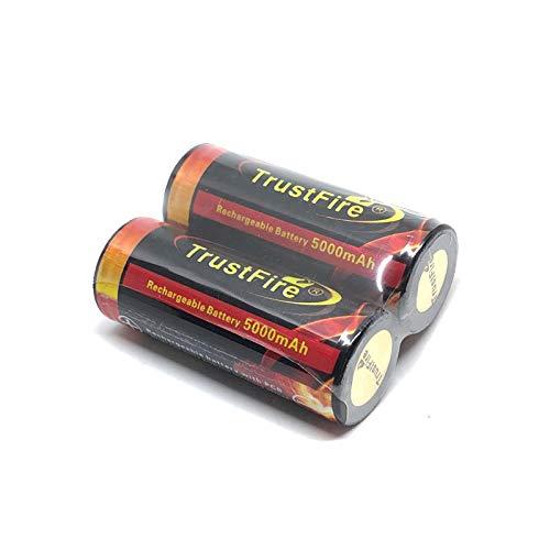 2 PCS 26650 Batería 6800mAh 3.7V 26650 Baterías de iones de litio recargables protegidas Celda 26650 Batería para linterna E-tools