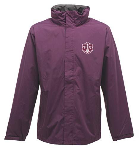 Old School Football Thames Ironworks West Ham 1895 impermeabile antivento giacca esterna con logo ricamato