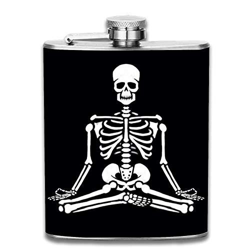 7oz meditierender Skeleton Edelstahl Groomsman, Brautjungfernflasche