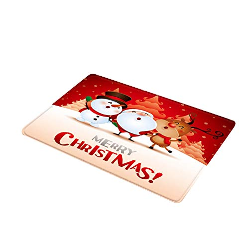 jieGorge Merry Christmas Welcome Doormats Indoor Home Carpets Decor 40x60CM, Home Decor,for Christmas Day (B)