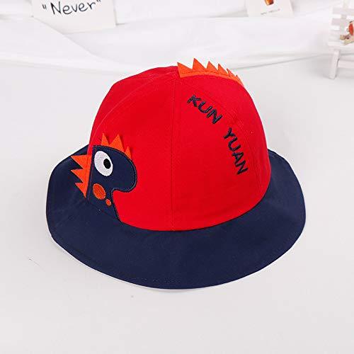 mlpnko Bonnet bébé Chapeau visière bébé visière garçons et Filles marée Version Chapeau de pêcheur Rouge 50cm