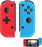 Elyco Manette pour Nintendo Switch, 2er-Set Wireless sans Fil Bluetooth Replacement Joycon Gamepad Joypad Joystick Links Kompatibel pour Nintendo Switch Contrôleur