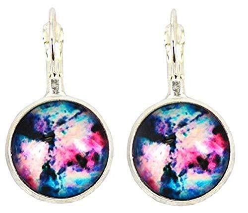 Pendientes de mujer – niña – Galaxia – Via Lattea – Universo – Planetas – Estrellas – Astronomía – Idea de regalo