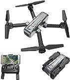 QqHAO Drone GPS RC con cámara 2K HD 5G WiFi FPV Drone Sígueme Altitude Hold Quadcopter Plegable para Adultos
