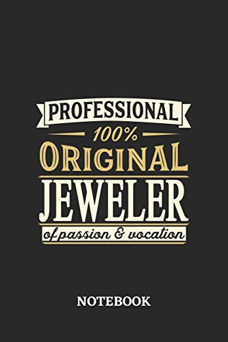 Professional Original Jeweler Notebook of Passion and Vocation: 6x9 inches - 110 dotgrid pages •...