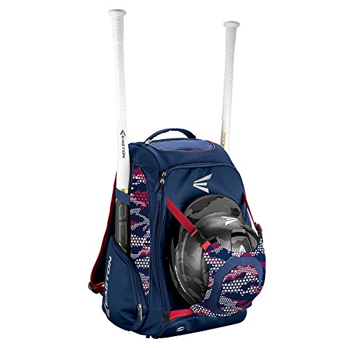 EASTON WALK-OFF IV Bat & Equipment Backpack Bag | Baseball Softball | 2020 | Stars & Stripes | 2 Bat Sleeves | Vented Shoe Pocket | External Helmet Holder | 2 Side Pockets | Valuables Pocket | Hook