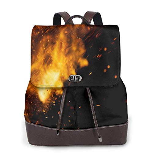Yuanmeiju Womens Leather Backpack Dog Love Valentines Day Shoulder Schoolbag Laptop Bag Girls