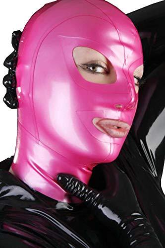 Latex Maske HalloweenLatex MaskeSm MaskeKostüm DamenSex MaskeFetisch Bondage Sklave Bühnenperformance-Zubehör Bondage MaskeLatex KleidungLatex Body-XXL