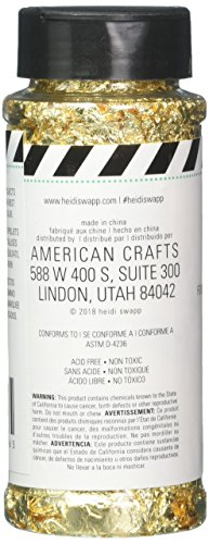 Heidi Swapp 314936 Accessory Mink-Wheel Flakes-Gold, Black |