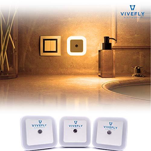 Nachtlampje Stopcontact Dag en Nacht Sensor | Lampje Voor Baby - Kind | Volwassenen & Slaapkamer | Warm Wit Led Verlichting – 3 Stuks
