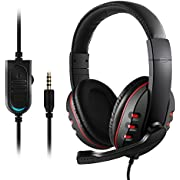Gaming Headset for PS4 Xbox One - Etpark 3.5mm Wired Over-Head Stereo Gaming Headset Headphone with Mic Microphone, Volume Control for Sony PS4 PC Tablet Laptop Smartphone Xbox One (3.5mm)