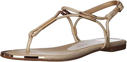 Dolce Vita Women's Marly Flat Sandal,Platinum,7 B(M) US