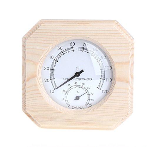 Besttse pour Sauna Bois Thermomètre hygromètre Hygrothermograph Température Instrument