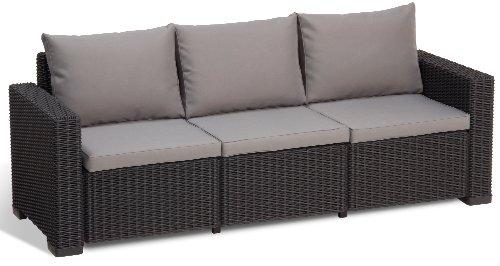 Allibert Lounge Sofa California 3-Sitzer, graphit/cool grey