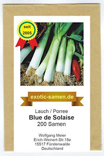 Lauch, Porree - späte Sorte - für Herbst-/Winterernte - Blue de Solaise - 200 Samen