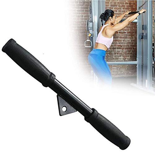 ZRBD-ds Accesorio de cable de barra recta, sistema de máquina de cable de polea DIY con agarres antideslizantes para brazo bíceps, tríceps, blaster, entrenamiento de fuerza de mano