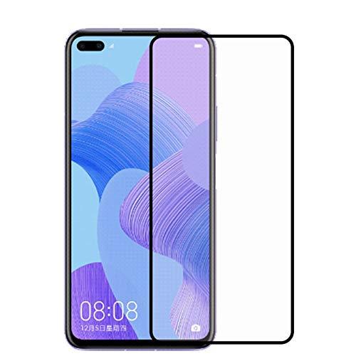 HHF Teléfono móvil Accesorios Protector de Pantalla LCD 2 unids para Huawei Nova 6, Vidrio de Pegamento Completo para Huawei Nova 6 5G, Cubierta Completa de Vidrio Templado Nova 6 6.57'