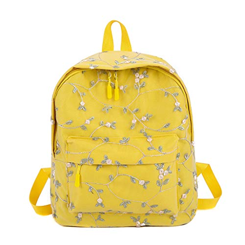 Cegduyi Hey Caterpillar Mochila de las Mujeres de Encaje Mochila de Estudiante Bolsa de Moda de Gran Capacidad Viaje Senderismo Mochila al aire libre, amarillo