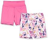 Amazon Essentials Pantalón Corto elástico Active, Paquete de 2 Rosa/Toucan, 2 aÒos