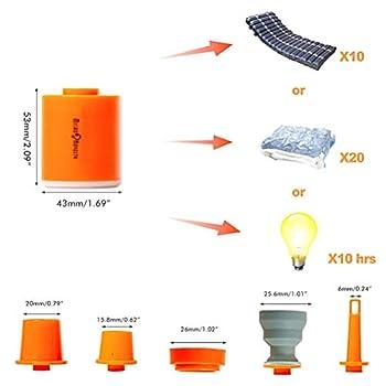 Tiny Pump 2.0 Pompe à air portable avec batterie 1300mAh Gonfleur ultra-mini rechargeable USB pour flotteurs de piscine Lit d'air Matelas pneumatique Anneau de natation Sacs de rangement sous vide