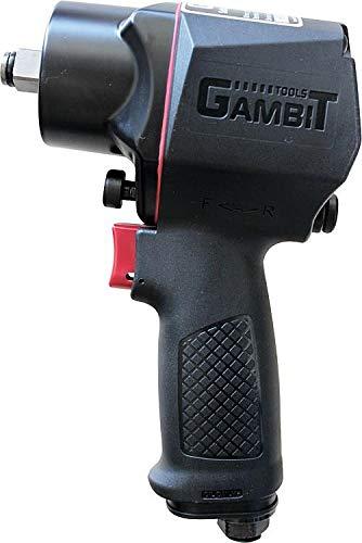 GAMBIT TOOLS Profi Druckluft-Schlagschrauber GS950 / Werkzeugaufnahme 1/2 Zoll / langlebiges Twin-Hammer-Schlagwerk / maximaler Lösemoment 1400 Nm / Krafteinstellung 4-stufig / Einhandumschaltung