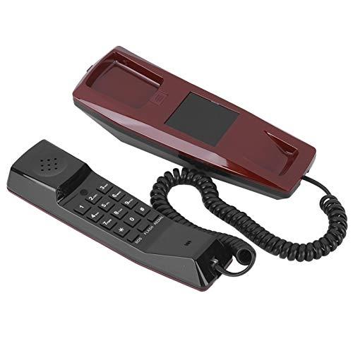 Goshyda Teléfono de comunicación, ACE-8903 Escritorio Ergonómico montado en la Pared Teléfono Impermeable Ajustable a Prueba de Humedad, para Oficina en casa Hotel Tipo General(Rojo)