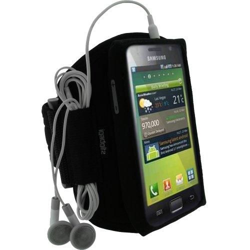 iGadgitz Wasserabweisend Neopren Sportarmband für Samsung Galaxy S I9000–Schwarz