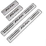 Tiras de umbral de acero inoxidable, accesorios de diseño de automóviles, protección de umbral para Ford Kuga 2012-2021[4 unidades]