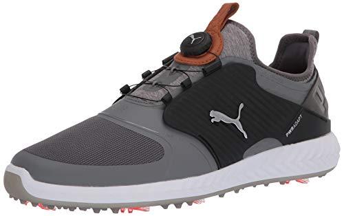 Puma Golf Men's Ignite Pwradapt Caged Disc Golf Shoe, Quiet Shade-Bronze-Puma Black, 12 M US