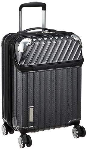 [トラベリスト] スーツケース ジッパー トップオープン モーメント 機内持ち込み可 35L 54 cm 3.4kg ブラックカーボン