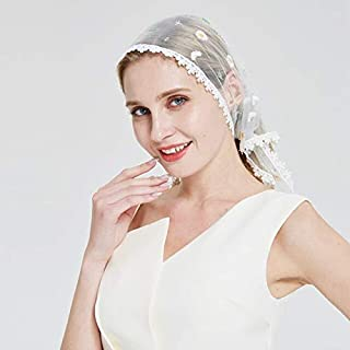 Utini couverture Head Covering Lace Kippah Hair Covers Kippot Hat Fashion Light Ivory Catholic Chapel Veil - (Color: White, Size: One Size, Age Range: >8Y)