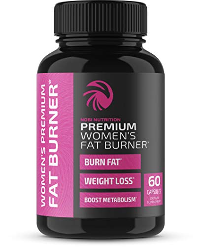 Nobi Nutrition Premium Fat Burner for Women - Thermogenic Supplement, Carbohydrate Blocker, Metabolism Booster an Appetite Suppressant - Healthier Weight Loss - Energy Pills - 60 Capsules (Vegan 60ct)
