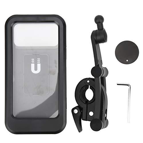DFKEA Soporte para teléfono móvil Plegable a Prueba de Agua-Soporte para teléfono móvil para Bicicleta Soporte de navegación Plegable para Ciclismo con succión magnética Impermeable