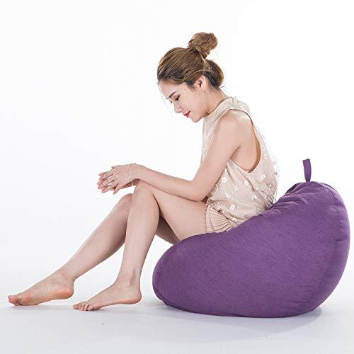 Grote Zitzak Fauteuil Sofa Hoes, Eenvoudig Design Rugleuning voor Buiten en Binnen Lazy Lounger voor Volwassenen Veertien Kleuren,S